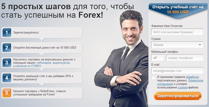RoboForex - Landing Pages 2013
